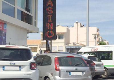 Signalétique caisson LED Casino