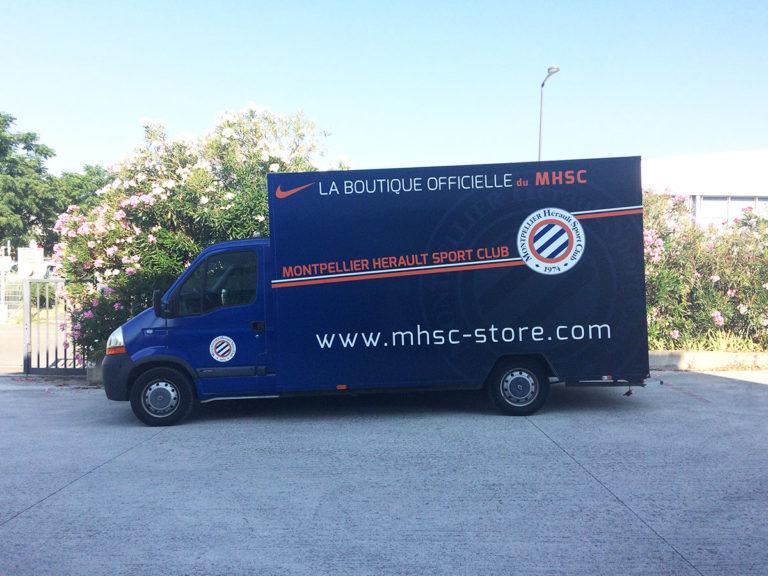 Covering véhicule boutique MHSC