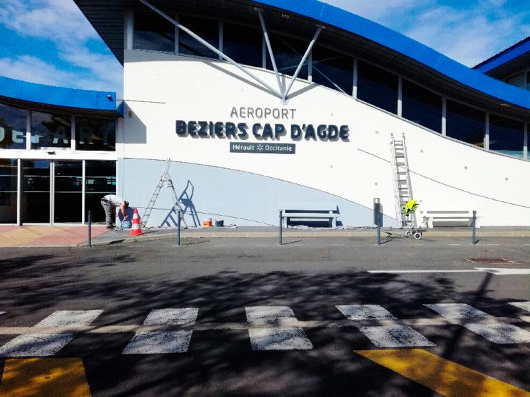 Enseigne Aéroport Béziers Agde